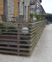 bamboo decking and fencing remains stable