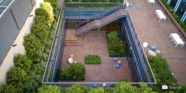 5 avantages d'une terrasse en bambou pour des centres commerciaux