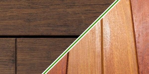 Is de prijs van bamboe vlonderplanken hoger dan die van hardhout?