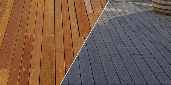 Deck de madera tropical VS deck de bambu